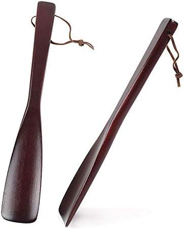 靴べら 携帯用 快適なグリップ付き高齢木製の靴ホーンのための適切な大人の男性と女性 家で使用されます (色 : Multi-colored, Size : 40cm)