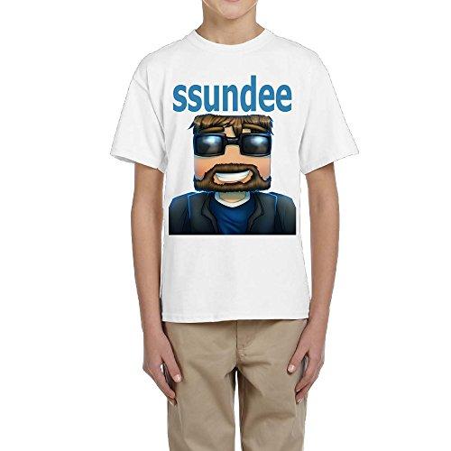 Goooet Kids Ssundee Logo Cotton T Shirt White M