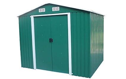 Caseta de jardín puerta Herramientas de acero galvanizado Apex de exterior 2.5 × 2.5mt