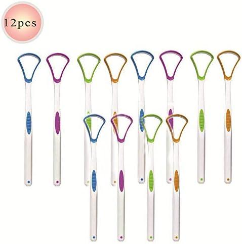 Grinning 12 X Zungenschaberreiniger, Zungenreiniger Mit Zufälliger Farbe Reinigungszungenschaber Für Die Mundpflege Mundhygiene Halten Sie Frischen Atem