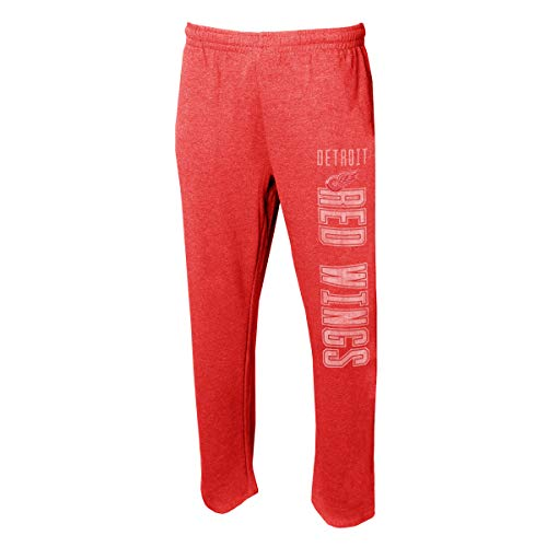Concepts Sport Men's NHL -Squeeze Play- Retro Sleepwear Pajama Pants-Heathered-Detroit Red Wings-XL Concept Sports Detroit Red Wings