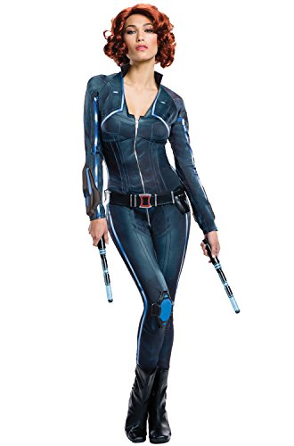 [Avengers 2 Age of Ultron Black Widow Costume, Black, Large] (Loki Costume)