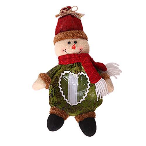VIASA_ Christmas Decor Santa Claus Doll Candy