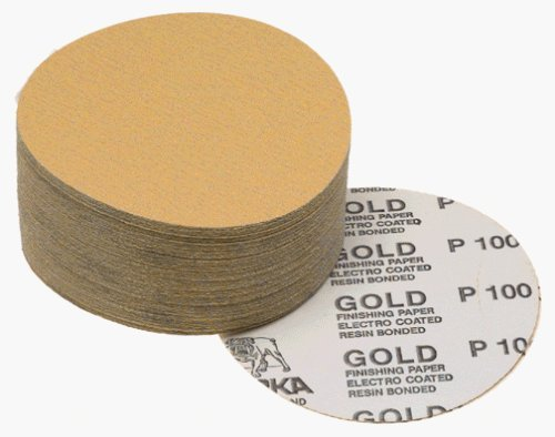 Mirka 23-379-120 6 No-Hole 120 Grit Adhesive Sanding Discs - 100 Pack by Mirka