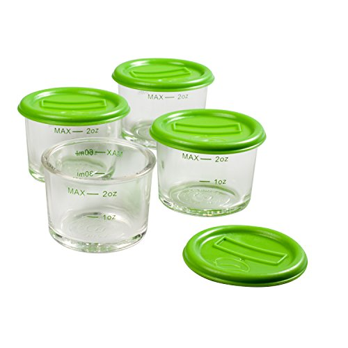 Glass Baby Food Jars 4pk 2oz Microwavable Freezer Dishwasher
