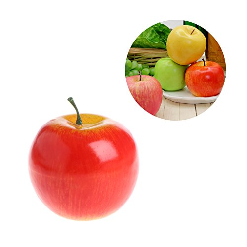 Aixia 1pc Fake Red Apple, Foam,Artificial Fruit,Kids Play House Toys,Home Wedding Party Garden Decor from Aixia