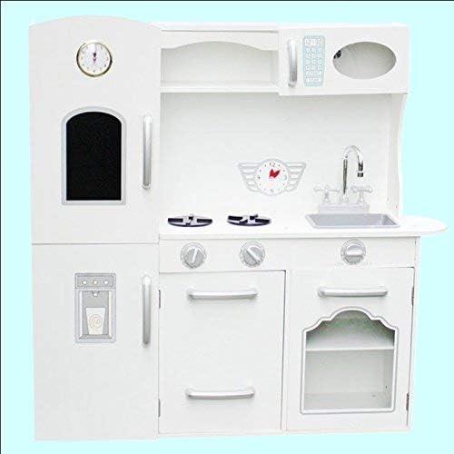 Deluxe Play Kitchen Children S Kitchen Wooden Children S Wooden Toy Kitchen In White Amazon De Spielzeug