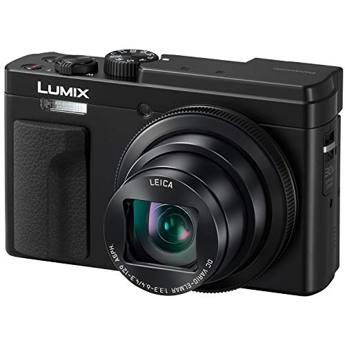 PANASONIC LUMIX ZS80 20.3MP Digital Camera, 30x 24-720mm Travel Zoom Lens, 4K Video, Optical Image Stabilizer and 3.0-inch Display - Point & Shoot Camera with Lecia Lens - DC-ZS80K (Black)