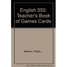 English 550: Teacher's Book of Games Cards