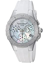 Technomarine Womens Cruise Quartz Stainless Steel and Silicone Casual Watch, Color:White (Model: TM-115083)