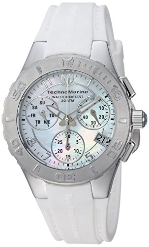 Technomarine Women's 'Cruise' Quartz Stainless Steel and Silicone Casual Watch, Color White (Model: TM-115083)