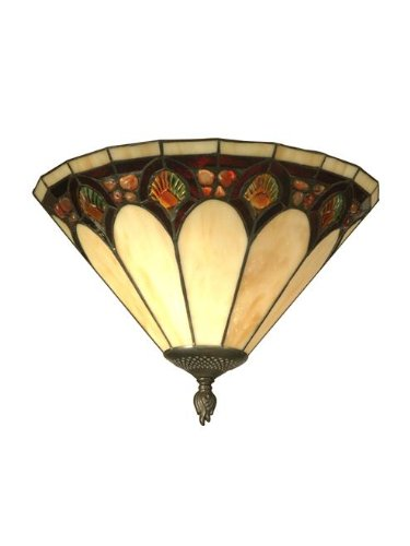 Dale Tiffany Tiffany Shells - Dale Tiffany TW11154 Crystal Jeweled Pebble Stone Wall Sconce, Antique Bronze
