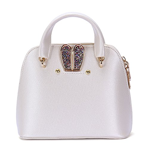 Diamonds Handbag Dunland Messenger Hobo Shell Lady Bag Shoulder Purse Rabbit Womens Ivory Tote wwq6pt