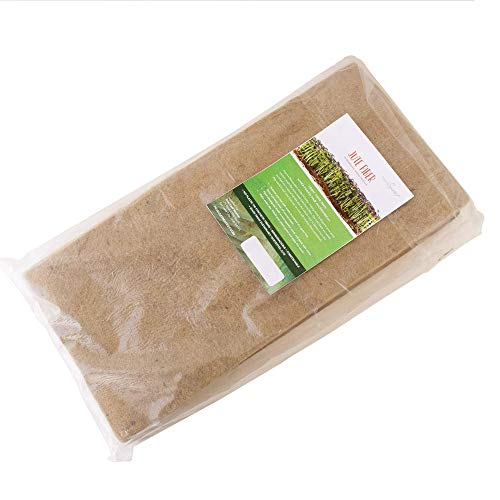 Pro Micro Jute Microgreens Grow Mats by Handy Pantry - 10x20 Inches for 1020 Growing Trays - Pack of 10 Pads - Hydroponic Grow Media for Micro Greens & Wheatgrass