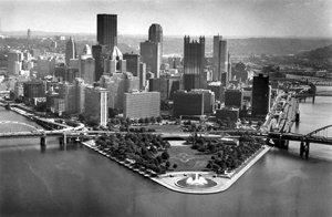 Pittsburgh Post Gazette Black And White Pittsburgh Photo   16  X 20  Photo
