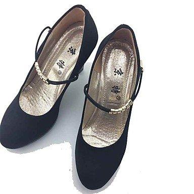 Confort Automne Tissu Habillé LvYuan formelles Talon Chaussures ggx Femme Elastique Confort Chaussures Gros formelles à Talons Chaussures black Printemps wv8qXvg