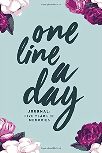 one line a day journal five years of memories 6x9 diary dated and lined book floral sketch