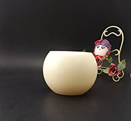 LED Flameless Candles with remote and timer, real ivory wax,vanilla scent, 4.8inch by 3.7inch tall,battery operated-by Adoria