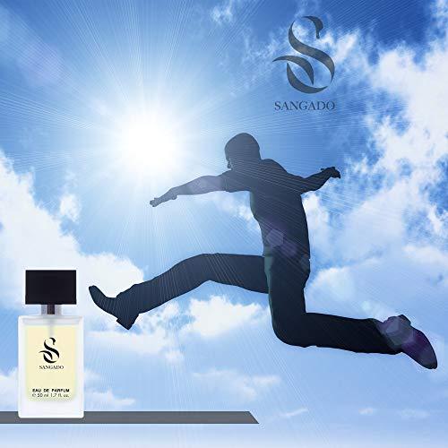 SANGADO obefläckad parfym för män, 8–10 timmar långlivad, lyxig doft, vattenlevande träkvalitet, utsökt fransk mat, extra koncentrerad (Eau de Parfum), idealisk gåva, 50 ml