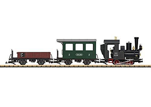 European Steam Starter Set -- LGB 0-4-0T, 2 Cars, Track Circle, Power Pack
