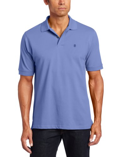 IZOD Men's Big and Tall Heritage Short Sleeve Polo, Blue Revival, X-Large Tall by IZOD