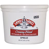 Land O Lakes European Style Creamy Blend Butter - Whipped, 5 Pound - 2 per case.
