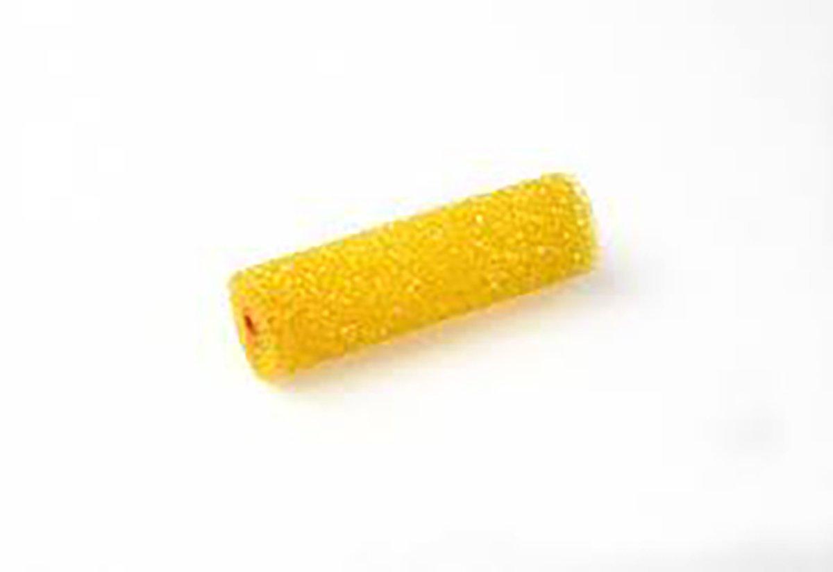 10 Mini rodillo Espuma Poro 3 10cm 1 mango varilla