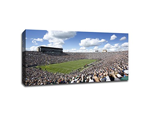 Notre Dame - College Football - 40x22 Gallery Wrapped Canvas Wall (College Football Art)