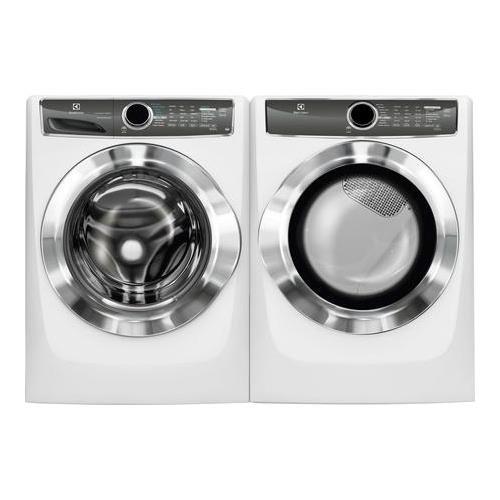 """Electrolux White Laundry Pair EFLS617SIW 27"""" Washer EFME617SIW 27"""" Electric"""