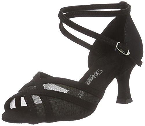 Diamant Damen Latein Tanzschuhe 035-077-040, WoMen Ballroom Dance Shoes Black