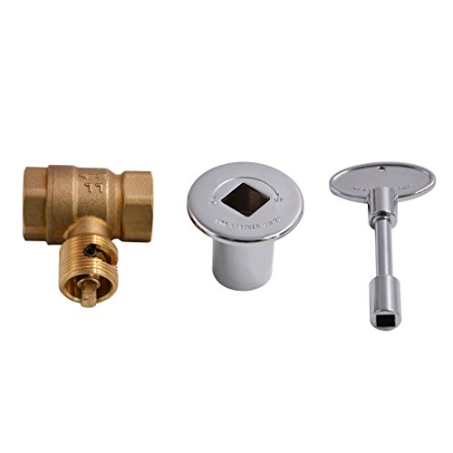 """Stanbroil Straight Quarter-Turn Shut-Off Valve Kit for NG LP Gas Fire Pits with Polished Chrome Flange - 3/4"""" NPT"""