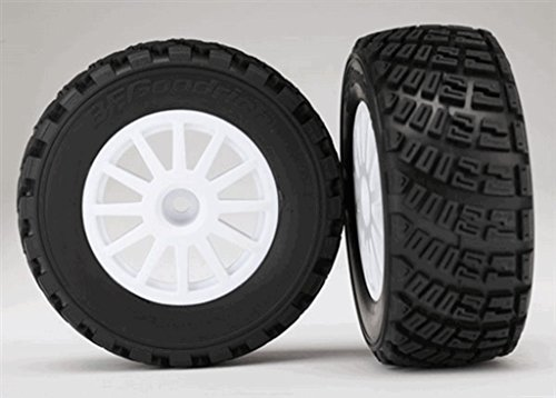 Traxxas Assembled Glued Wheels Bfgoodrich Rally Gravel Pattern 2 Tires & Wheels with Tire Foam Inserts