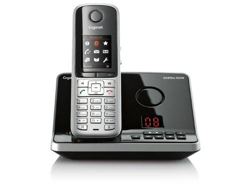 Gigaset SX810A ISDN Dect-Schnurlostelefon mit Anrufbeantworter für den ISDN Anschluß, stahlgrau