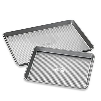 USA Pan 2-Piece Bakeware Set Corrugation Design