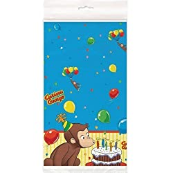Curious George Plastic Table Cover - Birthday and Theme Party Supplies -