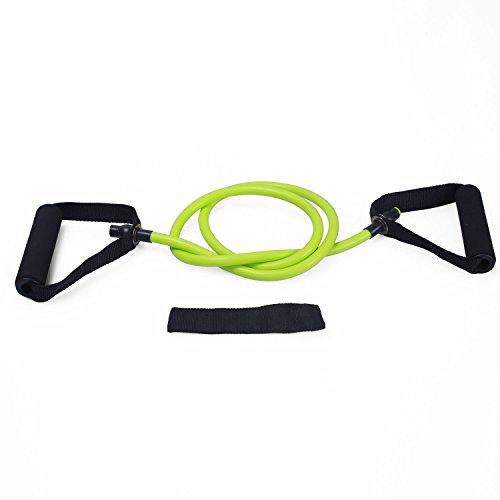 Adeco Single Resistance Band Door Anchor and Starter Guide, green