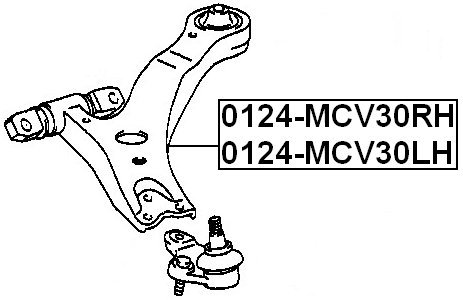 Oem 48068-33070 Toyota Right Front Arm Febest