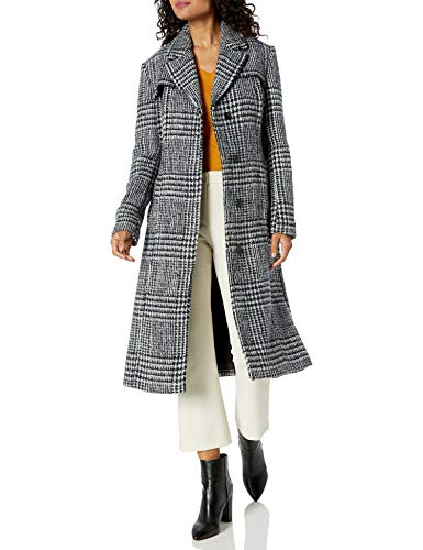 Cole Haan Women's Long Wool Trench Coat, Charcoal, 14 (Cole Haan Signature Hooded Down Puffer Coat)