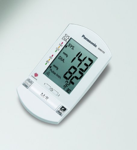 Panasonic EW3153W Cuffless Upper Arm Blood Pressure Monitor with Wireless Display