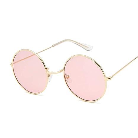 Yangjing-hl Gafas de Sol Redondas pequeñas Mujeres Diseñador ...
