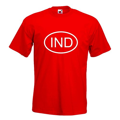 Kiwistar India IND T-Shirt In 15 Different Colors Funshirt Cotton
