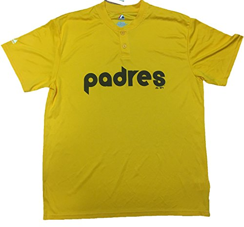 San Diego Padres Cooperstown Jersey - San Diego Padres Cooperstown Collection Two Button Dri Fit Jersey T-Shirt (Medium)