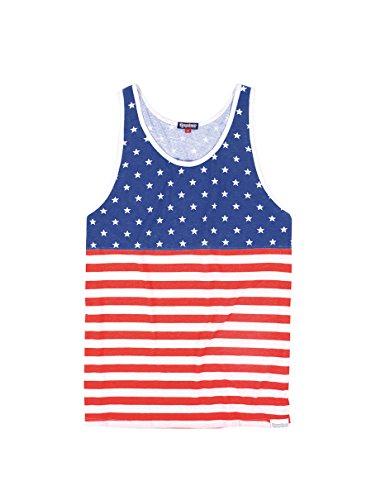 Tipsy Elves Mens American Flag Tank Top - Patriotic USA Stars and Stripes Shirt