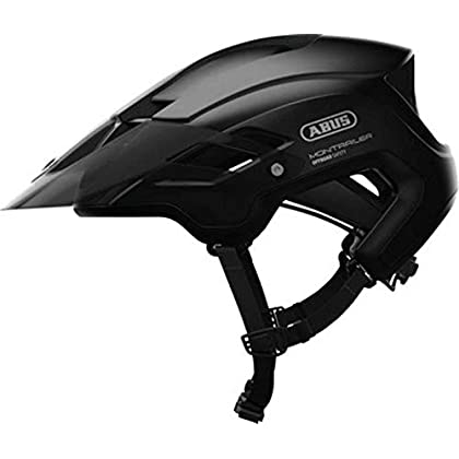 Image of Abus MonTrailer Mountain Bike Helmet - Ultra In-Mold MTB Protection, Comprehensive Ventilation, ActiCage Reinforced, GoggFit Storage, ZoomAce Adjustment, Offroad Bike Helmet Adult Helmets