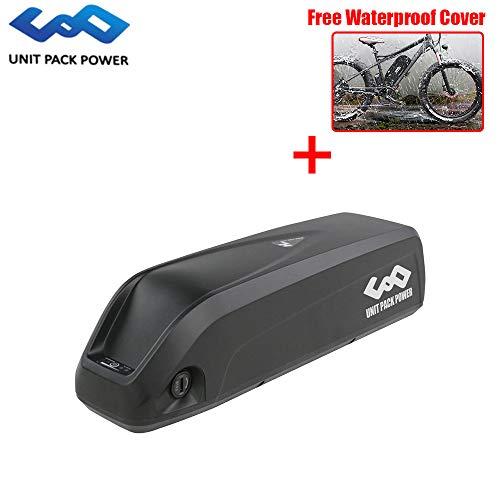 UnitPackPower 52V 13.6AH / 14AH Electric Bike Lithium ion Shark Battery with BMS+Charger for Bafang 48V 750W 1000W E-Bike Motor (52V 14AH) (Lg Tv Electric Plug)