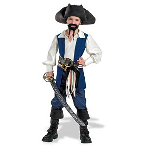 Captain Jack Sparrow Child Costume, Size 7-8 (Jack Sparrow Boys Costume)
