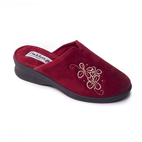40mm Rouge Ee Talon Extra Chausse Microsuède Chaussure 'sable' Taille Grande Gratuit Femmes pied En Avec Padders Sqvw11