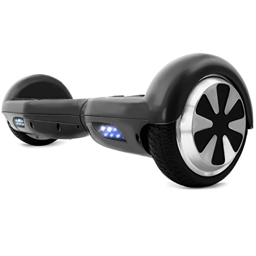 XtremepowerUS 6.5' Self Balancing Hoverboard Scooter w/ Bluetooth Speaker (Matte Black)