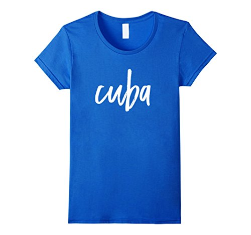 womens-cuba-t-shirt-caribbean-island-nation-large-royal-blue