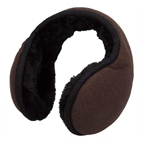 eubell Unisex Foldable Ear Warmers Polar Fleece/kints Winter EarMuffs Coffee by eubell (Image #3)